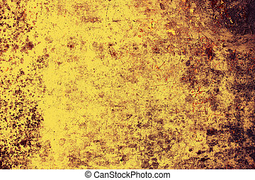 Backdrop of old yellow grunge wall