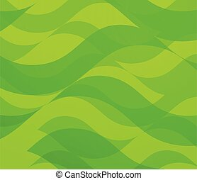 Backdrop with Green Waves - Vector Abstract Background.