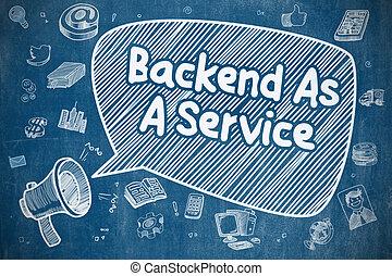 backend, como, un, servicio, -, empresa / negocio, concept.