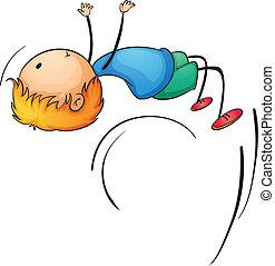 backflip boy - Illustration of a boy doing a backflip
