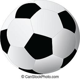 backg, 白いボール, 隔離された, サッカー