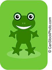 backg, grenouille verte, heureux