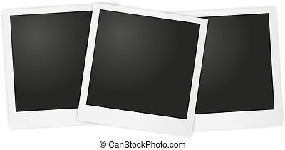 backg, gris, vector, polaroid, foto