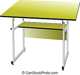 backg, scuola, bianco, isolato, scrivania