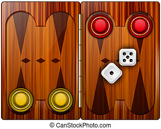 Backgammon abstract vector illustration isolated on background eps 10
