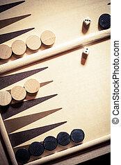 Backgammon board detail