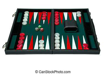 Backgammon board game - clip