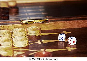 Backgammon board