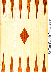 Backgammon - close up shot of a wooden backgammon board
