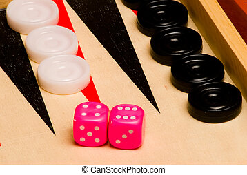 backgammon detail - detail of the popular table for gaming