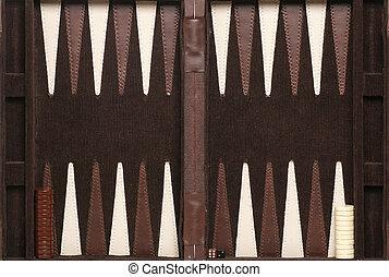 backgammon game background taken in studio