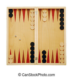 backgammon game board isolated on white