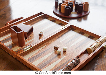 Backgammon game set