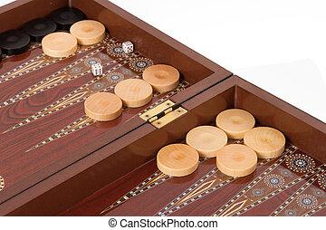 Backgammon Set During Game