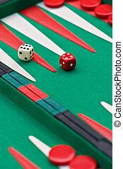 Backgammon, Sugoroku, Nard, Tabula , game is originated in ancient Persia is very popular between gamblers in Europe through Asia,