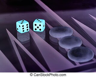 backgammon with dice