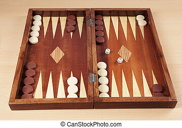 backgammon wooden tavli board game from greece...