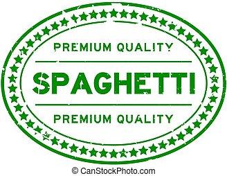 backgoround, オバール, 品質, スパゲッティ, 緑, 優れた, 白, ゴム, 単語, グランジ, シール, 切手