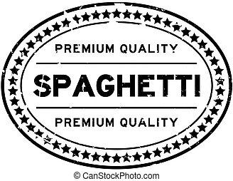 backgoround, ゴム, スパゲッティ, シール, グランジ, 白, 単語, 品質, 切手, 優れた, 黒, オバール