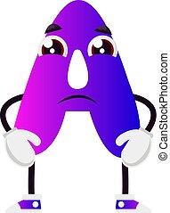 backgorund, 紫色, イラスト, ベクトル, 手紙, 白