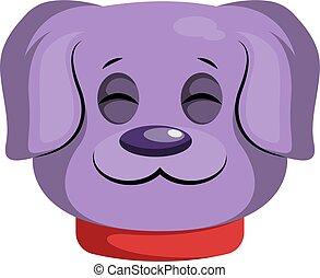 backgorund, 紫色, 犬, ベクトル, illustartion, 白, 漫画, 幸せ