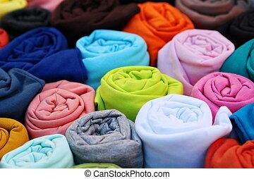 backgorund, chemise, rouleau, coloré, t