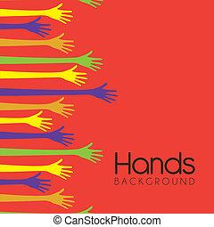 backgorund, handen