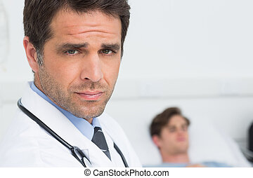 backgorund, hospitalar, paciente, doutor