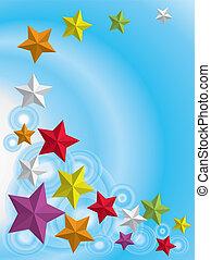 backgorund, med, stars.