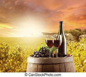 backgorund, vie, vignoble, encore, vin rouge