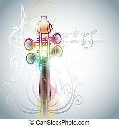 backgorund, violino, estilo, arte, linha