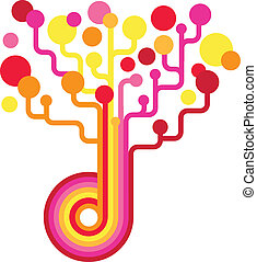 backgound, colorido, árvore, -, vetorial, tecnologia