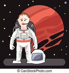 backgr, étoiles, astronaute, espace