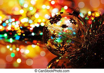 backgr, כדור, צללית, צבעוני, שנה, bokeh, חדש, חג המולד