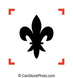 backgr, 元素, 角落, 集中, 黑色, 白色, 圖象, design.