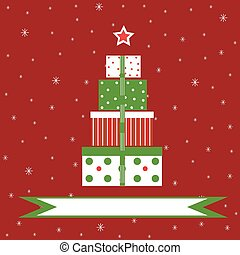 backgr, 禮物, 聖誕節, 紅色, 多雪