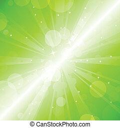 backgr, abstrakcyjny, -, wektor, zielony, plama