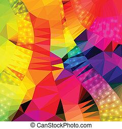 backgr, abstrakt, geometriske, farverig