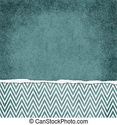 backgr, carrée, grunge, chevron, déchiré, zigzag, sarcelle, textured, blanc