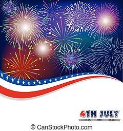 backgr, luglio, firework, quarto