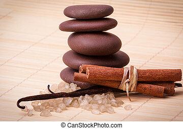 backgr, madeira, decoração, tapete, spa