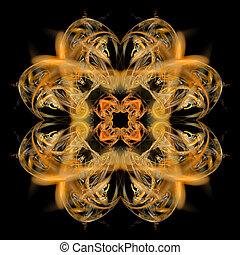 backgr, symétrique, résumé, fractal