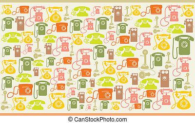 backgr, vendange, téléphones, colorfull
