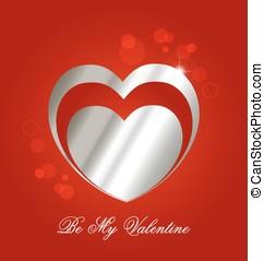 backgro, valentin,  s, jour,  Célébration