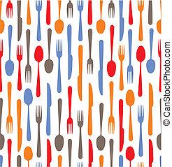 backgrou, 多种色彩, 刀叉餐具, 图标