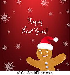 backgrou, kerstmis, rood, %u0421ookies
