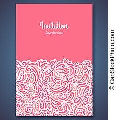 backgroun, パターン, 抽象的, 招待, テンプレート, 結婚式, カード