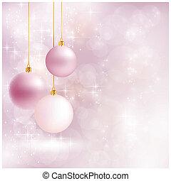 backgroun, 柔らかい, クリスマス, blurry