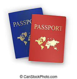 backgroun, 여행 문서, 백색