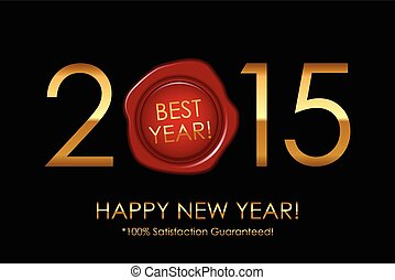 backgroun, 100%, -, 満足, 2015, ベクトル, guaranteed!, year!, 最も良く